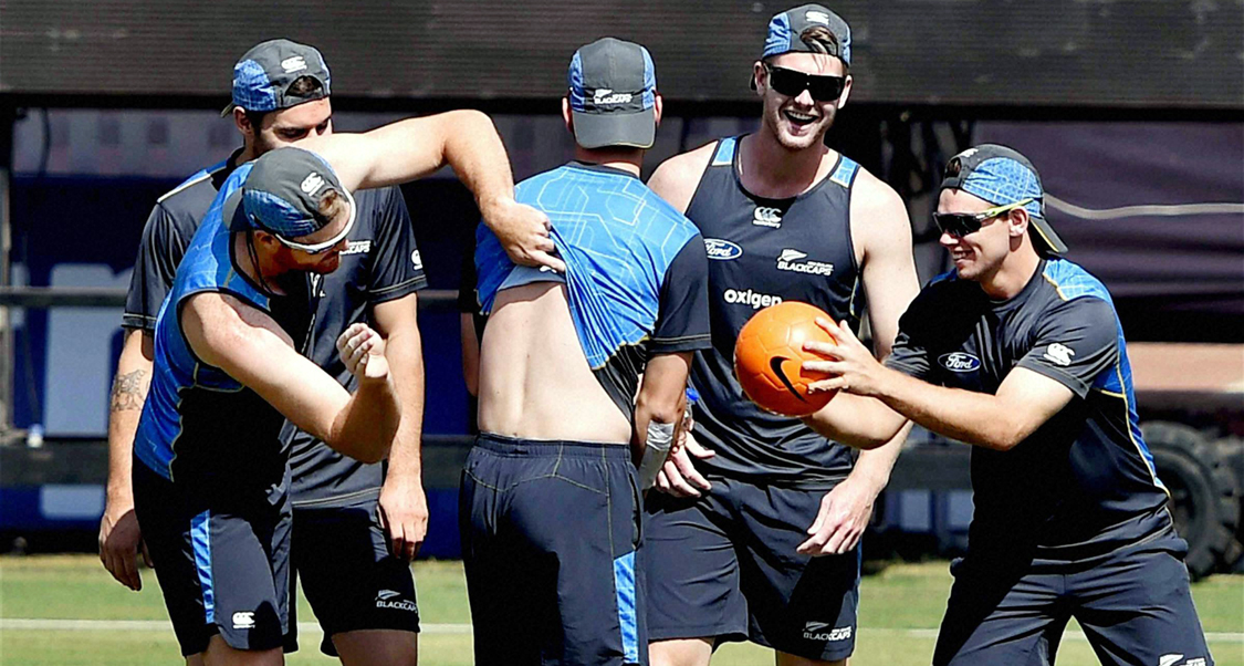 New Zealand practice session