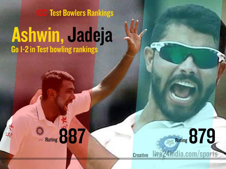 Ashwin and Jadeja Live