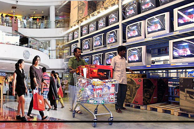 By 2015, India's consumer market will be as big as Italy's, and will grow into the fifth biggest worldwide 10 years after that. India's expanding middle class has prompted big Indian conglomerates such as Tata, Reliance, and Bharti to expand into retail. Foreign brands such as Nike, Samsung, and Sony have tied up with local players, and Wal-Mart is entering the fray via an alliance with Bharti.