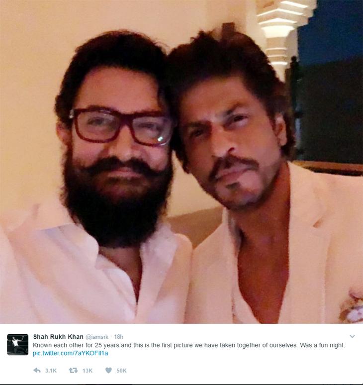 Aamir Khan and SRK