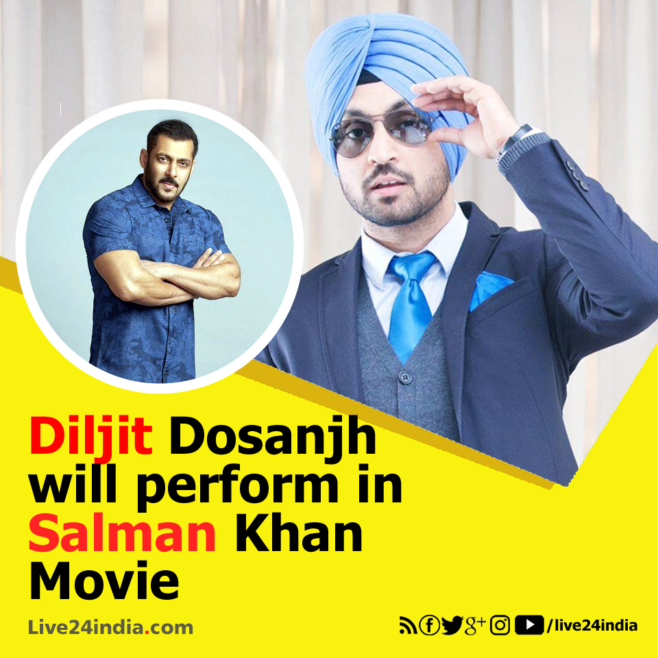 Salman Khan and Diljit Dosanjh Live