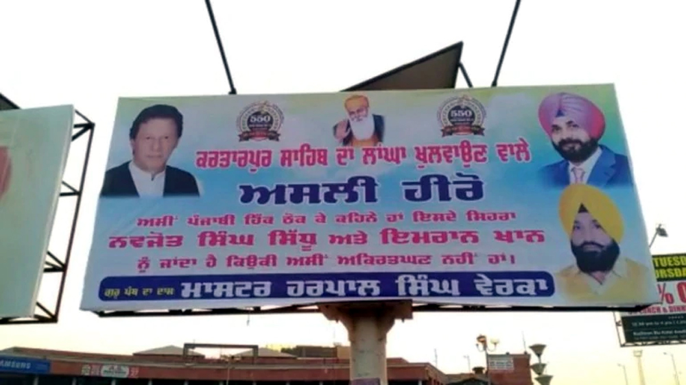 Hoardings hailing Sidhu, Imran surface in Amritsar